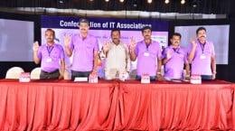 Confed ITA team taking an oath