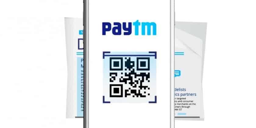 Paytm's, QR code scan